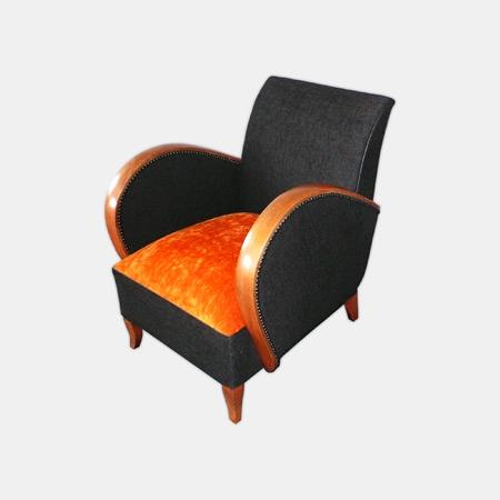 fauteuil orange ann es 30 c 39 est pas commode artisan. Black Bedroom Furniture Sets. Home Design Ideas